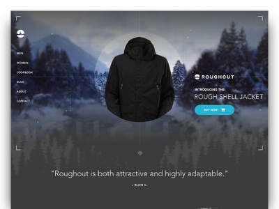 Roughout :: Website Homepage jacket ux design typography layout e-commerce product navigation ui homepage web design website