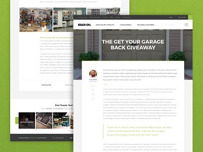 Stack-On :: Blog Post organization modern security safes tools post blog ux ui web design web