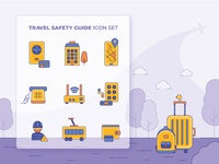 Travel Safety Icons