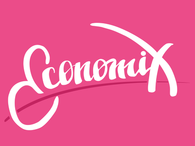 Economic journal ecomonic concept logo