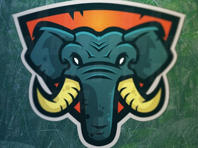 Elephants Logo Mascot - For Sale tusks illustrator logo mascot sport esports elephant