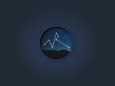Logo logo sky blue stars