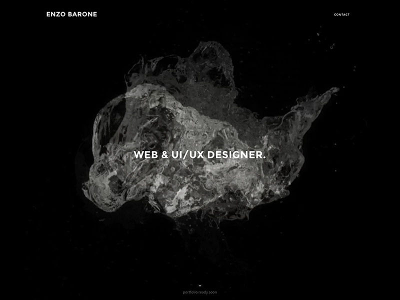 Landing page uiux portfolio personal designer landing page italy clean minimal