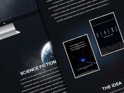 Upcoming project #2 website project cinema ui ux dark robot