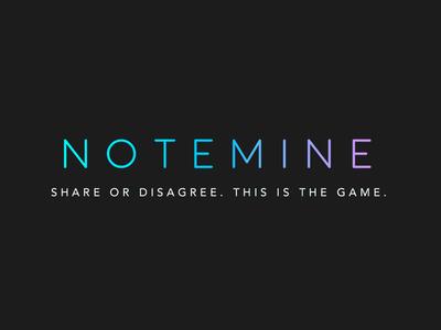 Notemine, logo side-project brand logo notemine