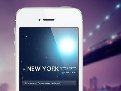 Met App / Night app weather ui