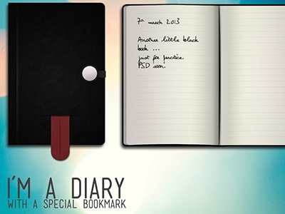 Another little black book diary black book notebook bookmark