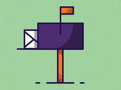 Mailbox - Contact Us clean art illustration illustrator website web ui branding logo vector minimal identity icon flat design