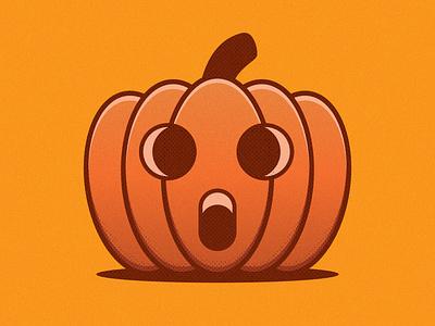Halloween Pumpkin identity illustrator clean art vector minimal icon flat design