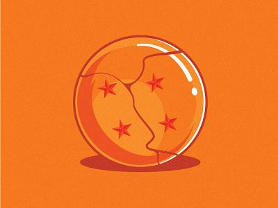 Cracked Dragonball illustrator illustration clean art vector minimal identity icon flat design