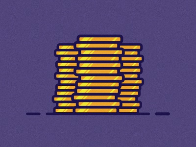 Gold Coins mobile website web ui illustrator illustration clean art vector minimal identity icon flat design