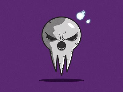 Soul Eater death mask cartoon illustrator vector illustration clean art minimal identity icon flat design