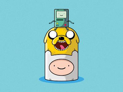 Adventure Time drawing adventure time cartoon illustrator illustration clean art vector minimal identity icon flat design