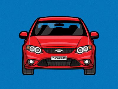 Falcon XR6 FG Series brush wacom intuos wacom drawing vehicle design vehicle car illustrator illustration clean art vector minimal identity icon flat design