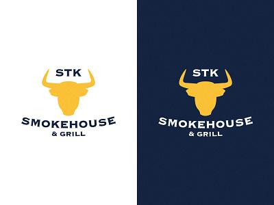 STK Smokehouse & Grill type typography logos logo design logodesign lettering ui logo branding drawing vector illustrator illustration clean art minimal identity icon flat design
