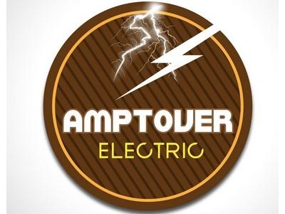 Amptover Electric illustration. art color branding design logo