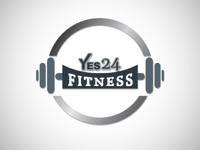 Yes 24 Fitness art color correction clipping path creative art work illustration innovation color branding design logo
