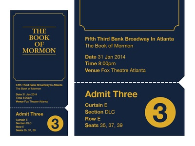 Birthday Book of Mormon Ticket
