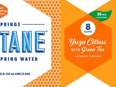 Montane Yuzu Citrus with Green Tea carton carrier beverage branding package design packaging