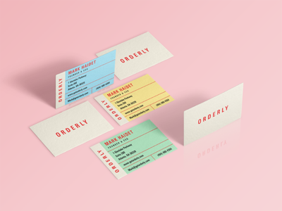 Orderly Business Cards