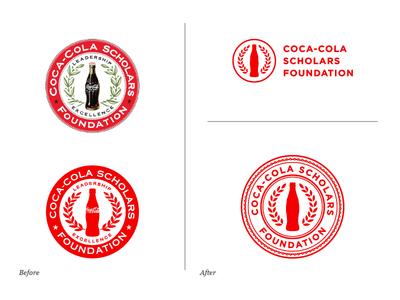 Coca-Cola Scholars Foundation Logo Evolution