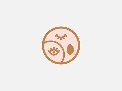Picasshole illustration third eye face logo icon pin