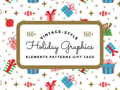 Vintage Holiday Graphics