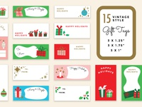 Vintage Holiday Gift Tags