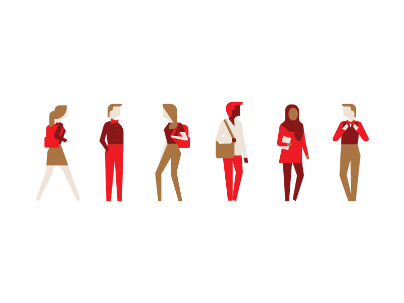 Coke Scholars unused concept 02 characters scholar education geometric minimal people illustration