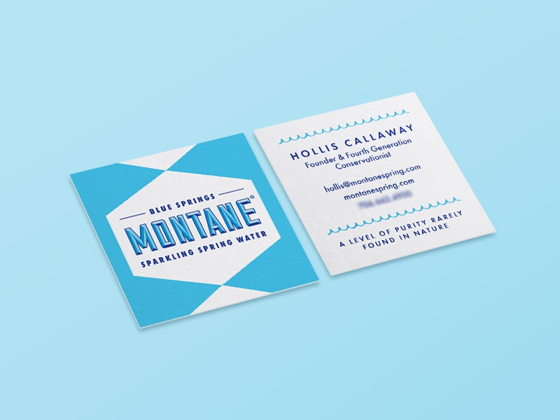 Montane Business Card vintage retro moo square card print collateral branding square business card business card