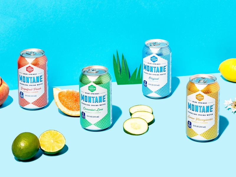 Montane Spring Sparkling Water typography collateral identity can sparkling water drink beverages logo branding packaging