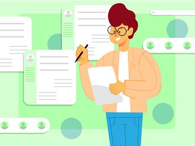 CV Assessment Illustration vector minimal design illustration