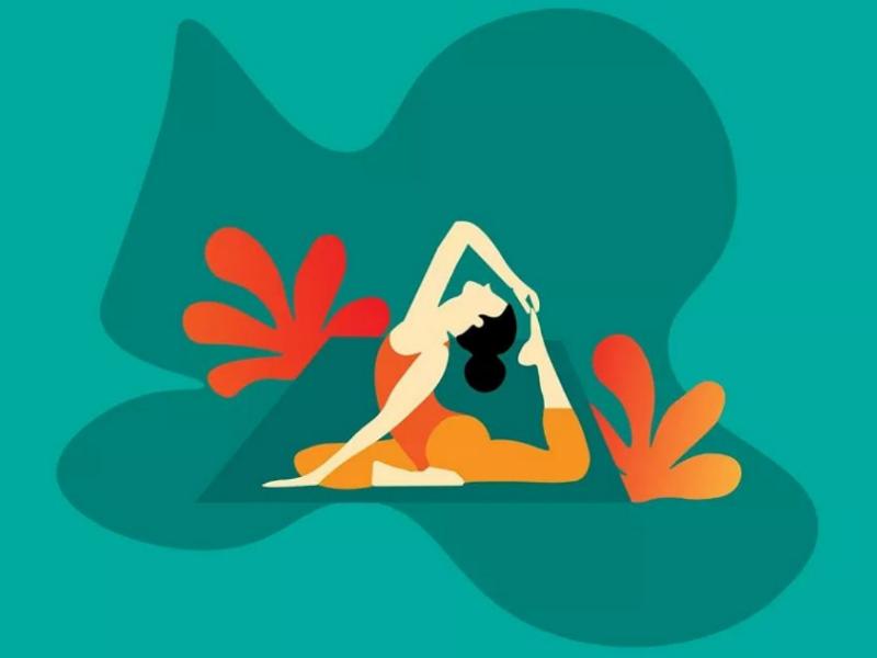Yoga pose flat vector illustration