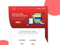English learning app web ui