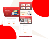 English Learning website ui