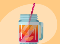 a glass full of juice