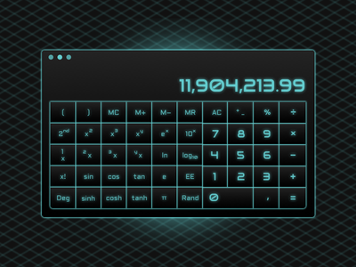 Tron Calculator glow fun calculator dailyuichallenge