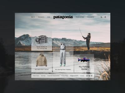Patagonia Landing Page landingpage outdoors fishing patagonia dailyuichallenge