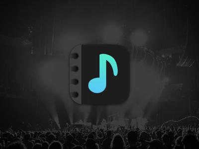 Tourbook App Icon appicon music tourbook dailyui