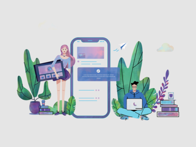 illustration for Banking app