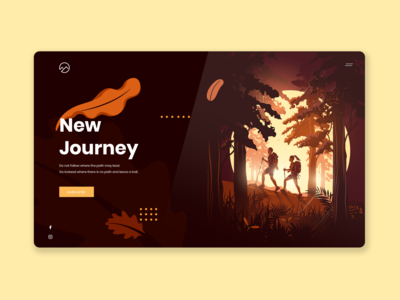 Camping/Hiking website header