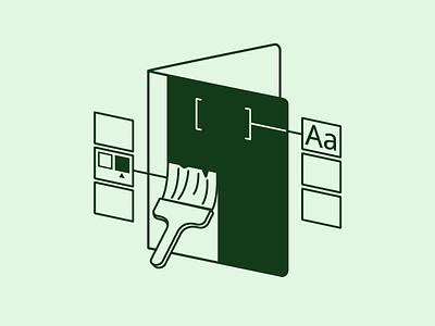 Customize a Business Binder monochromatic customize outline illustration