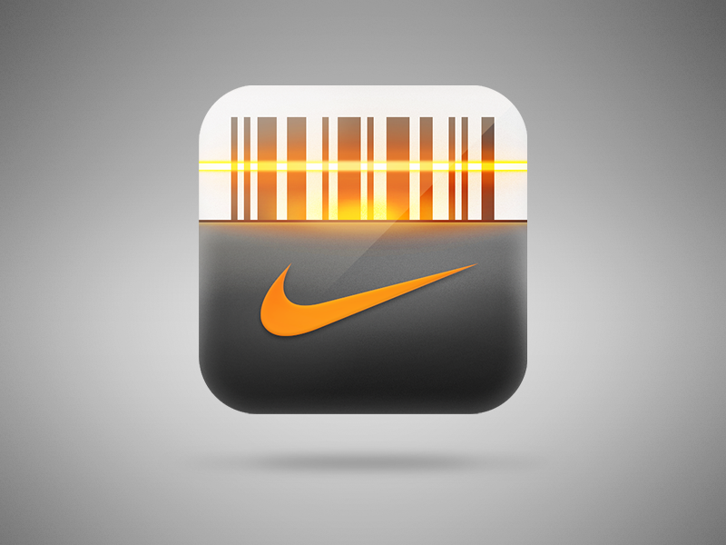 Nike iOS App Icon interface visual design ui ios iphone app icon mobile nike barcode scanner