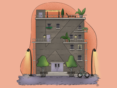 """""""K""""ool Kats Apartments city living city modern housing modern letter k apartments design illustration childrens book coloring page coloring book"""