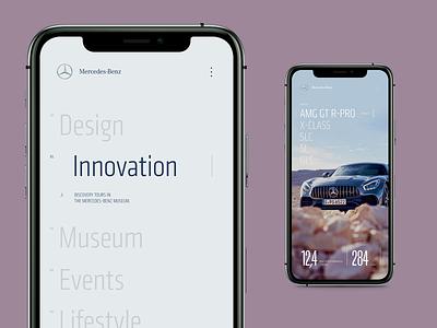 Mercedes-Benz AMG GT - 2 web design car mobile concept ui