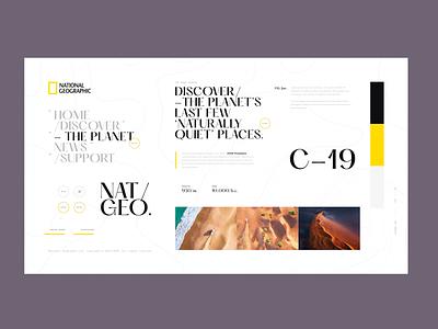 National Geographic - StyleSheet A.03 stylesheet geographic layout interaction web design desktop concept ui
