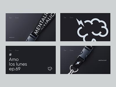 Mentalicast - Brand Style A.02 branding logo concept layout design