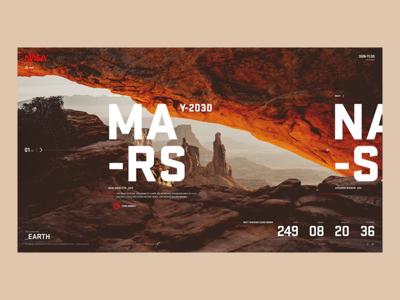 Nasa - A-05 earth astronaut space concept screen ux ui desktop nasa