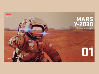 Nasa A-05 - Gallery earth astronaut space concept screen ux ui desktop nasa