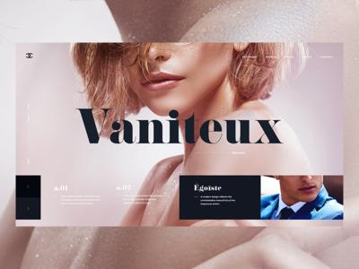 Vaniteux web design concept screen ux ui desktop chanel